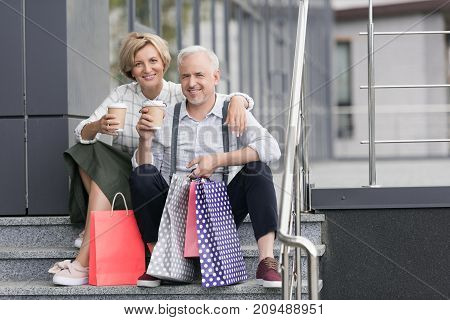 Wife And Husband Drinking Coffee