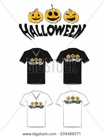 Halloween holiday t-shirt design on a white background