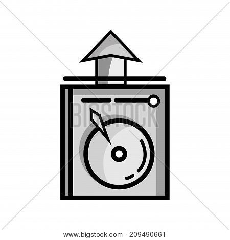 grayscale data hdd system server technology vector illustration