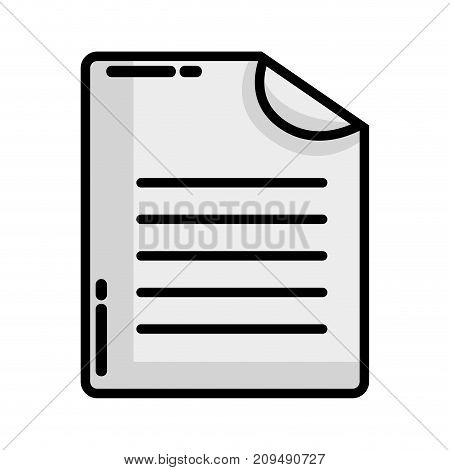 grayscale business document business data archive vector illustration