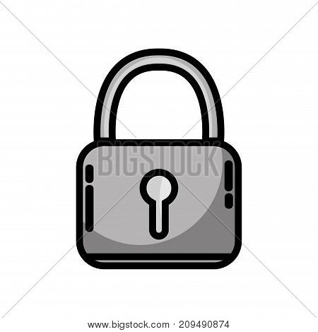 grayscale padlock security protection object to privacy information vector illustration