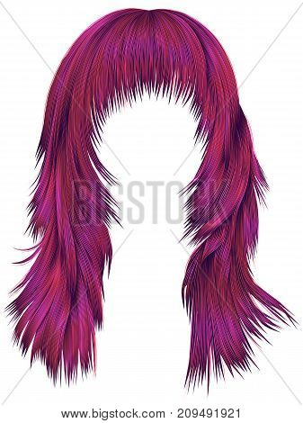 trendy woman long hairs bright pink colors . beauty fashion . realistic 3d