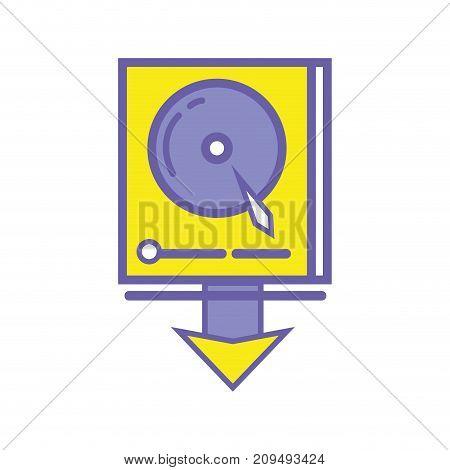 data hdd system server technology vector illustration