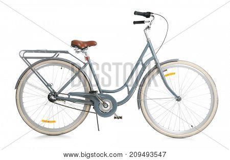 Retro bicycle, isolated on white