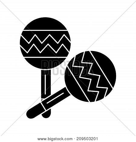 maracas icon, illustration, vector sign on isolated background