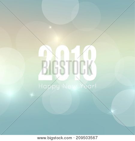 Abstract blurred vector background with sparkle stars. Happy New Year 2018 theme. For decorations festivals, xmas, glamour holiday, illuminated, celebration. Vector