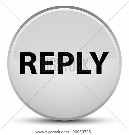 Reply Special White Round Button