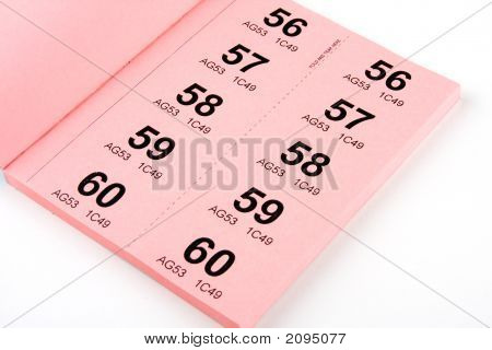 Book Of Raffle Tickets
