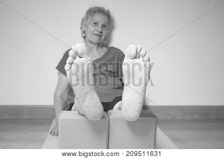 Rehabilitation Exercises With Yoga Blocks For Seniors