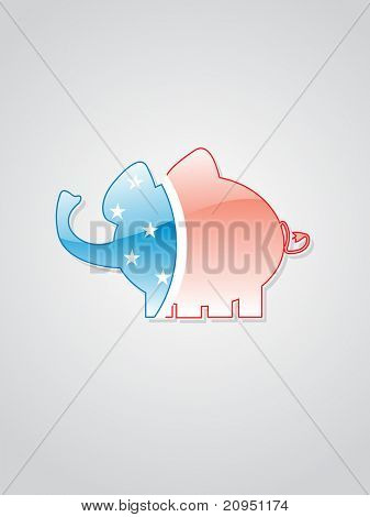 cute little elephant isolated on grey background