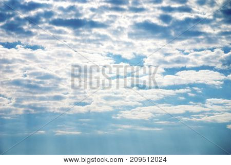 Blue sky and clouds. Cloud in blue sky nobody nature background