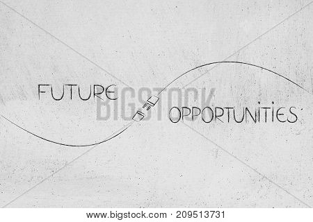 Future And Opportunities Captions With Plug In Between