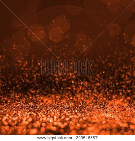 Abstract Orange Glitter Perspective To Blank Background,studio Style Mock Up For Adding Your Product
