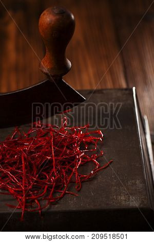 Homemade handmade red hot Chillies Threads strings,  cut and Dried