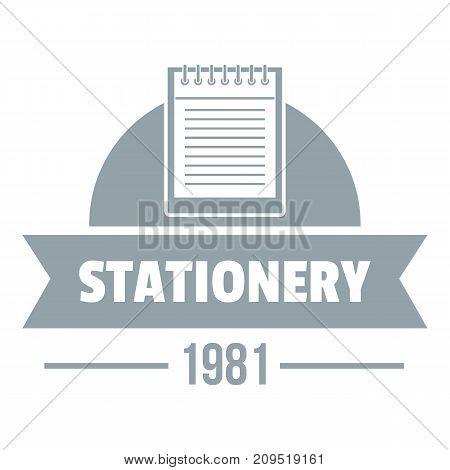 Learning stationery logo. Simple illustration of learning stationery vector logo for web