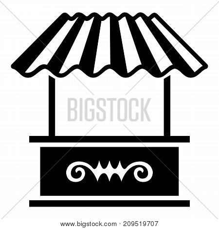 Roof stall icon. Simple illustration of roof stall vector icon for web