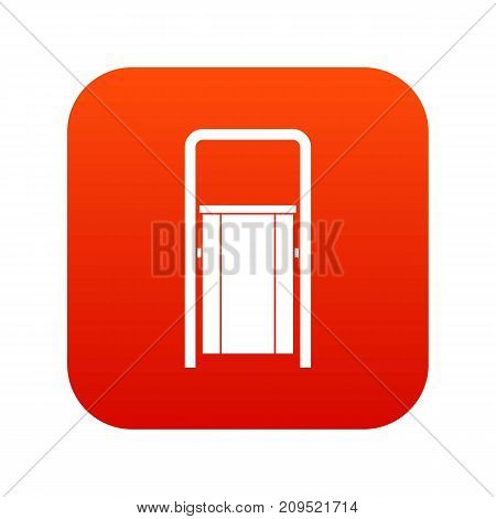 Public garbage bin icon digital red for any design isolated on white vector illustration