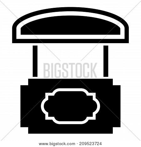 Wood stall icon. Simple illustration of wood stall vector icon for web