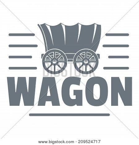 Wagon logo. Vintage illustration of wagon vector logo for web