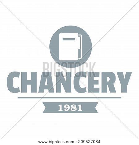 Chancery logo. Simple illustration of chancery vector logo for web