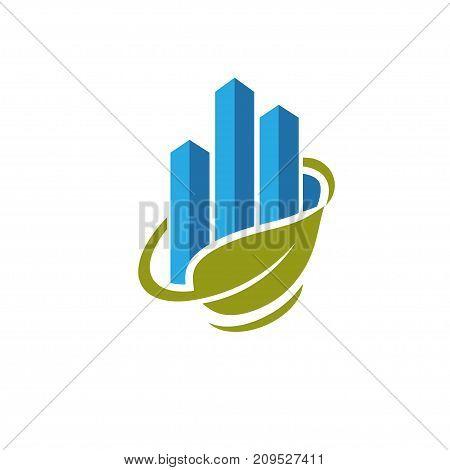 best business success marketing and green finance logo