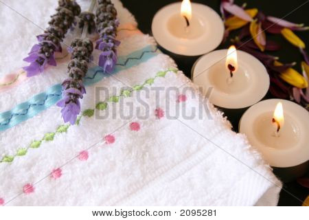 Facecloth With Lavender