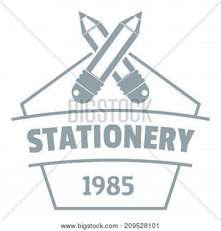 Education stationery logo. Simple illustration of education stationery vector logo for web