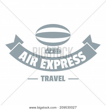 Tourism dirigible logo. Simple illustration of tourism dirigible vector logo for web