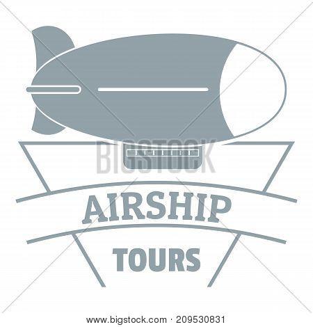 Sky dirigible logo. Simple illustration of sky dirigible vector logo for web