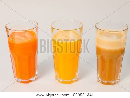 Freshly Squeezed Juice On A White Background