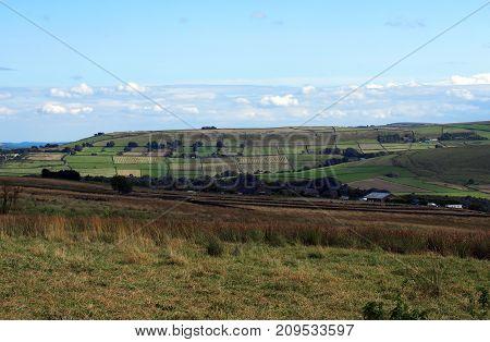 west yorkshire landscape in blackshaw head near hebden bridge west yorkshire