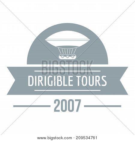 Retro dirigible logo. Simple illustration of retro dirigible vector logo for web
