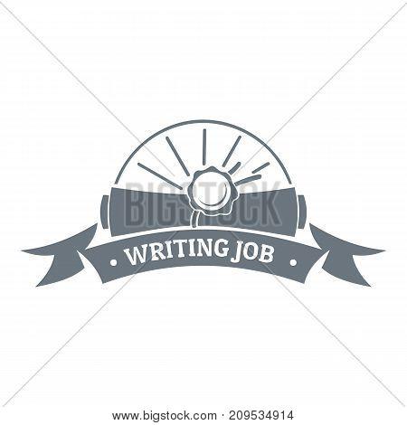 Writing job logo. Vintage illustration of writing job vector logo for web