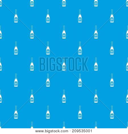 Bottle of champagne in simple style isolated on white background vector illustration