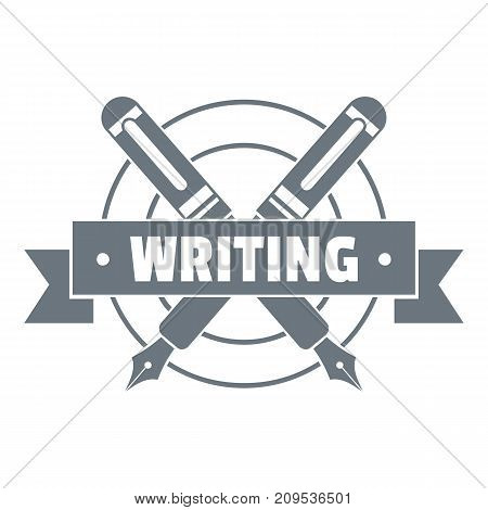 Writing logo. Vintage illustration of writing vector logo for web