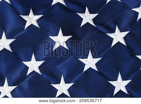 Stars of the American flag background .