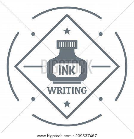 Writing ink logo. Vintage illustration of writing ink vector logo for web