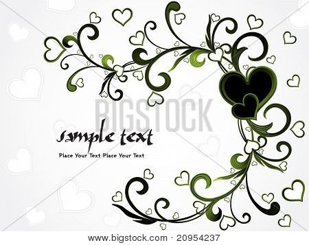 vector illustration of romantic background with sample text
