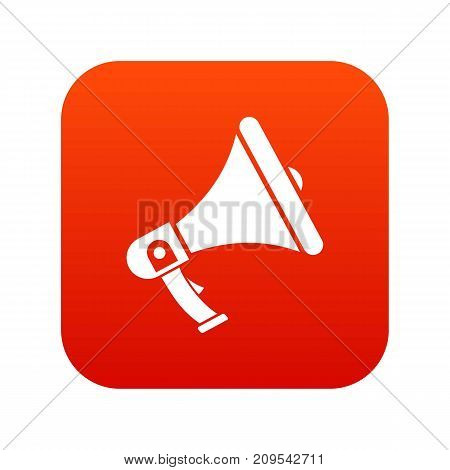 Megaphone icon digital red for any design isolated on white vector illustration