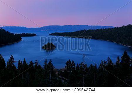 Emerald Bay At Lake Tahoe Before Sunrise, California, Usa