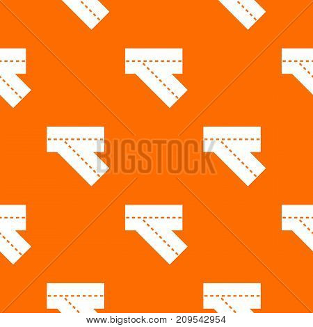 Turn road pattern repeat seamless in orange color for any design. Vector geometric illustration