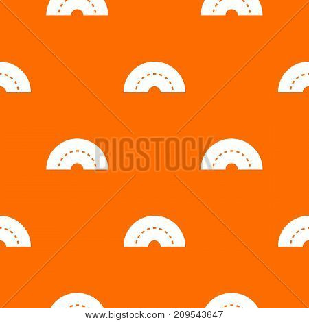 Round turning road pattern repeat seamless in orange color for any design. Vector geometric illustration