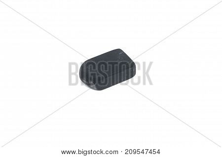 used black eraser rubber isolated on white background