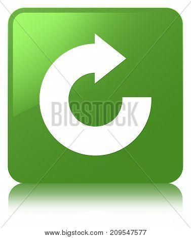 Reply Arrow Icon Soft Green Square Button