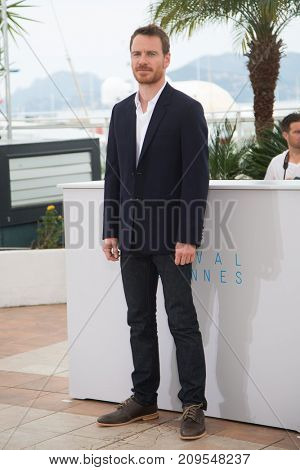 CANNES, FRANCE - MAY 23, 2015: Michael Fassbender attends the 'Macbeth' Photocall . 68th annual Cannes Film Festival at the Palais des Festivals