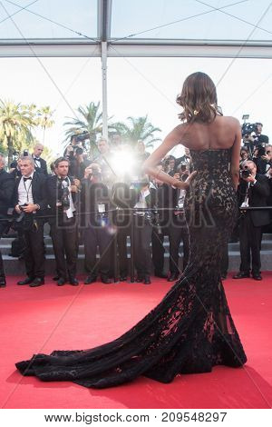 CANNES, FRANCE - MAY 22, 2015: Jourdan Dunn attends the 'Little Prince' ('Le Petit Prince') premiere. 68th annual Cannes Film Festival at the Palais des Festivals