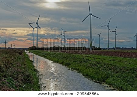 Renewable energy wind farm in the UK