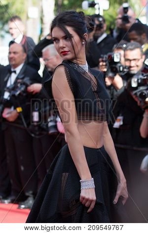 CANNES, FRANCE - MAY 20, 2015: Model Kendall Jenner  attends the 'Youth' premiere. 68th annual Cannes Film Festival at the Palais des Festivals