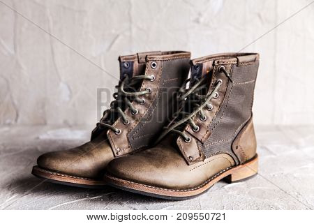Pair of new boots fashion, army, shoe