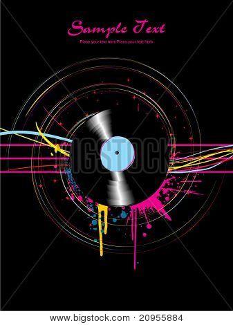 antecedentes musicales vector illustration